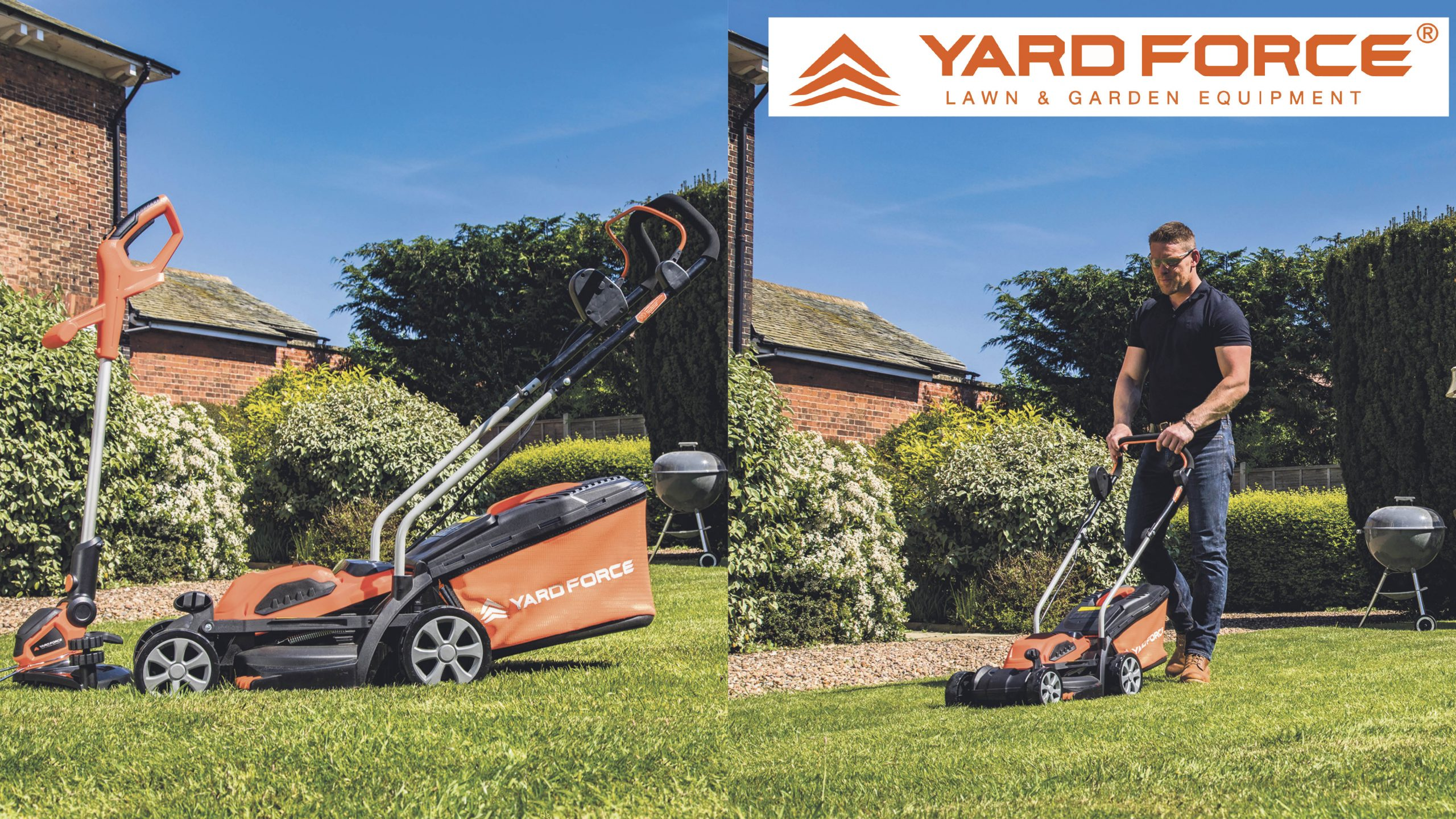 Win a 40V cordless lawnmower and grass trimmer Worth £169.99!