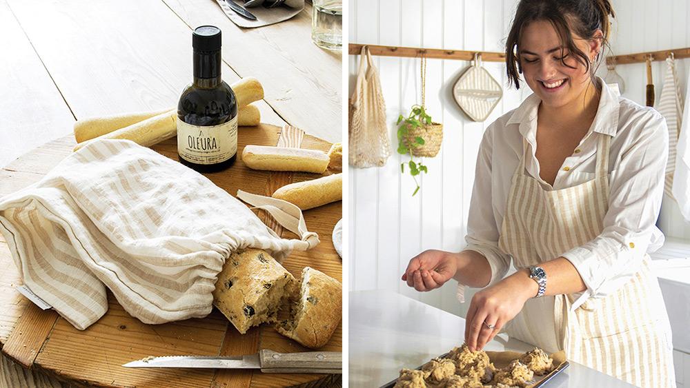 Win a handmade, pure linen kitchen set Worth £115!