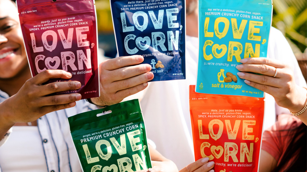 Win one month's supply of Love Corn snacks – 25 prizes, Worth £16 each!