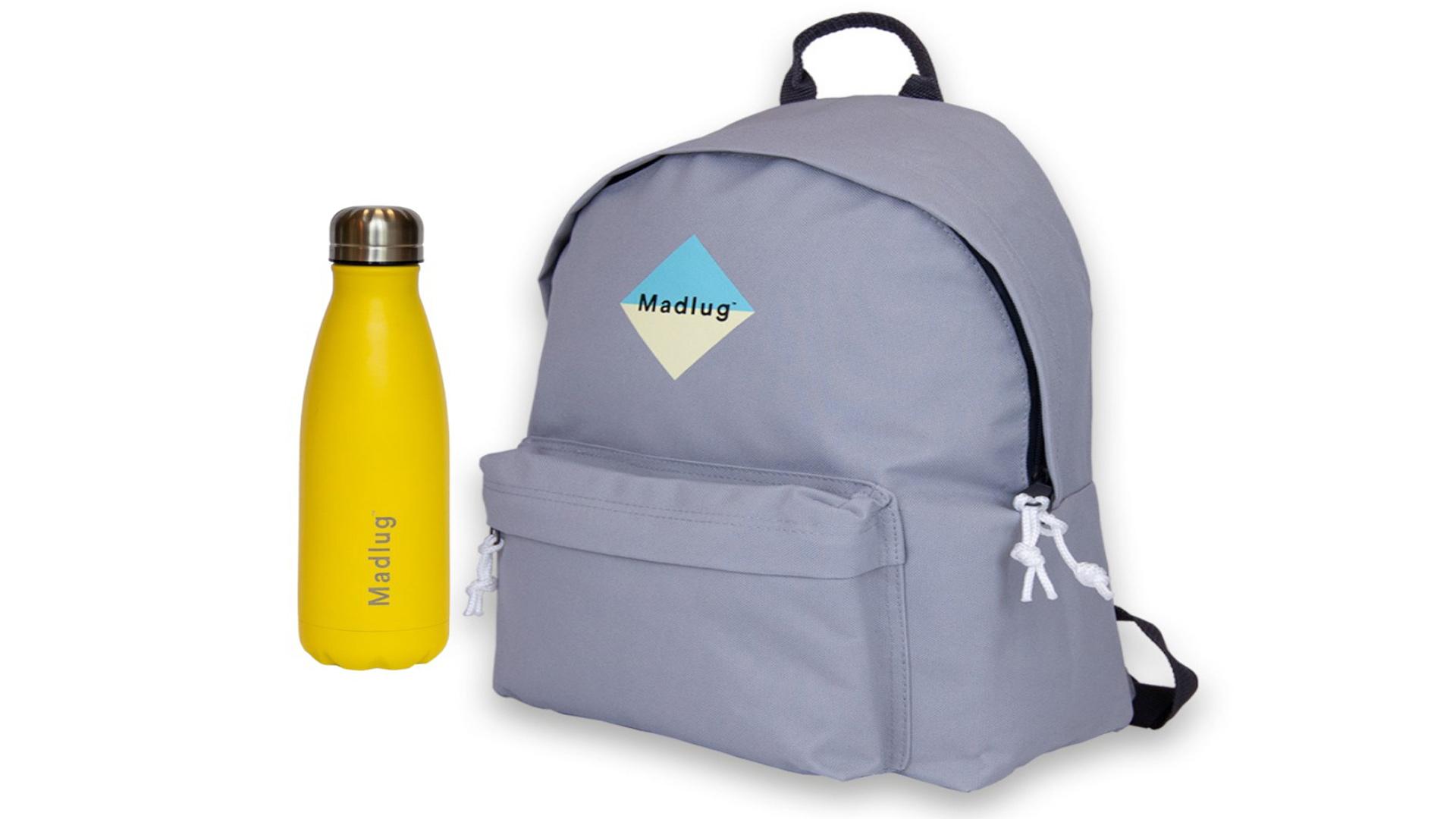 Win one of five Madlug™ Backpack & Water Bottle Bundles, Worth £50 each!