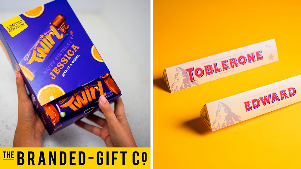 Win a voucher to spend on personalised Cadbury & Toblerone gifts, worth £150!